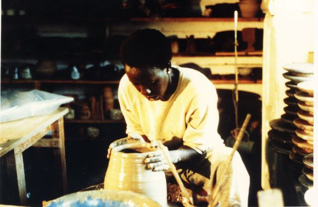 Waithira Chege in her workshop