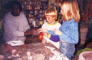 Childrens Pottery Lessons by Waithira Chege (Note: pic from a class 10 years ago)