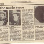 article in The Daily Nation - November 17, 1987