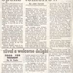 article in the Sunday Standard - August 19, 1990
